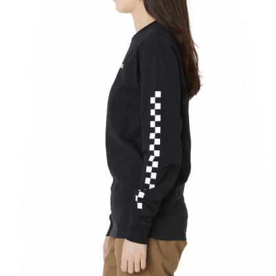 체커 온 긴팔 티셔츠