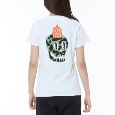 2018 OTW 스컬 온 파이어 반팔 티셔츠