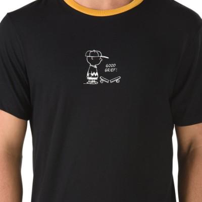신상 피넛츠 찰리 브라운 링거 반팔 티셔츠