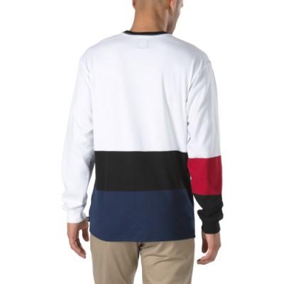 시즌오프) 치마 컬러블락 긴팔 티셔츠