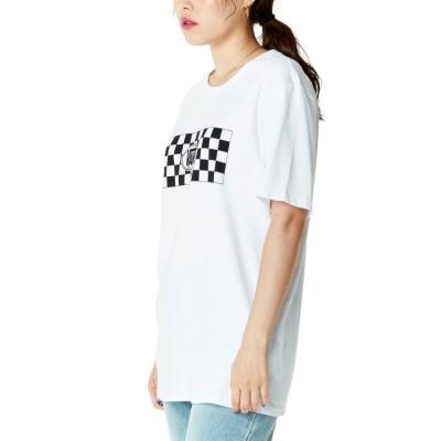 레트로 체크 체커 밤 반팔 티셔츠