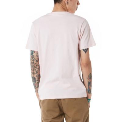 드롭 V 체커 반팔 티셔츠