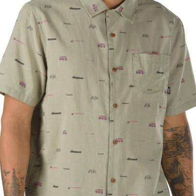 VANS X 유스케 하나이 로그인 반팔 버튼다운 셔츠