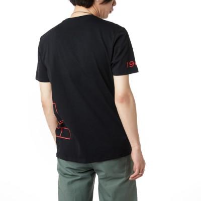 사이드 드롭 V 박스 반팔 티셔츠