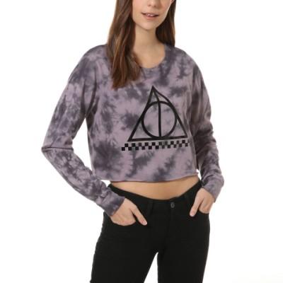 VANS X 해리 포터 데쓸리 핼러우 크롭 긴팔 티셔츠