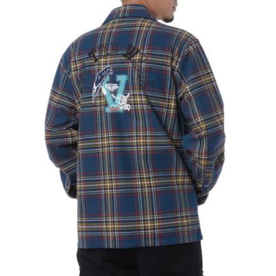 클래스 인 세션 오운 장르 플레이드 셔킷 자켓